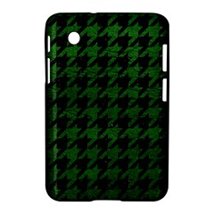 Houndstooth1 Black Marble & Green Leather Samsung Galaxy Tab 2 (7 ) P3100 Hardshell Case  by trendistuff