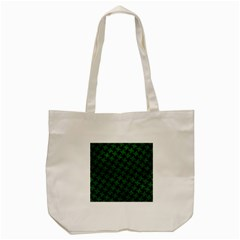 Houndstooth2 Black Marble & Green Leather Tote Bag (cream) by trendistuff