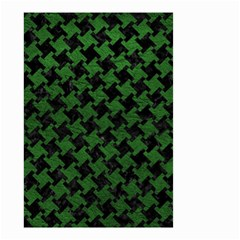 Houndstooth2 Black Marble & Green Leather Small Garden Flag (two Sides) by trendistuff