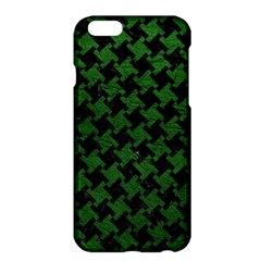 Houndstooth2 Black Marble & Green Leather Apple Iphone 6 Plus/6s Plus Hardshell Case by trendistuff