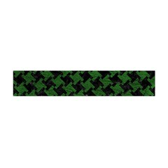 Houndstooth2 Black Marble & Green Leather Flano Scarf (mini) by trendistuff