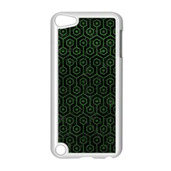 Hexagon1 Black Marble & Green Leather Apple Ipod Touch 5 Case (white) by trendistuff