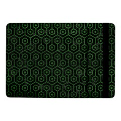 Hexagon1 Black Marble & Green Leather Samsung Galaxy Tab Pro 10 1  Flip Case by trendistuff