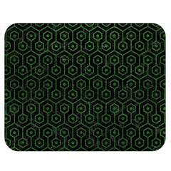 Hexagon1 Black Marble & Green Leather Double Sided Flano Blanket (medium)  by trendistuff