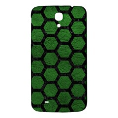 Hexagon2 Black Marble & Green Leather (r) Samsung Galaxy Mega I9200 Hardshell Back Case by trendistuff