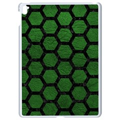 Hexagon2 Black Marble & Green Leather (r) Apple Ipad Pro 9 7   White Seamless Case by trendistuff