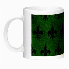 Royal1 Black Marble & Green Leather Night Luminous Mugs by trendistuff