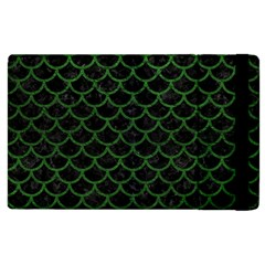 Scales1 Black Marble & Green Leather Apple Ipad 2 Flip Case by trendistuff