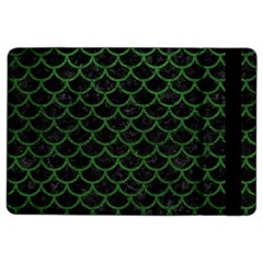 Scales1 Black Marble & Green Leather Ipad Air 2 Flip by trendistuff