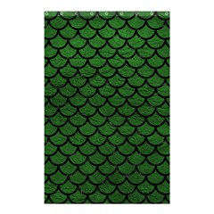 Scales1 Black Marble & Green Leather (r) Shower Curtain 48  X 72  (small)  by trendistuff