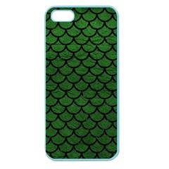 Scales1 Black Marble & Green Leather (r) Apple Seamless Iphone 5 Case (color) by trendistuff