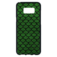 Scales1 Black Marble & Green Leather (r) Samsung Galaxy S8 Plus Black Seamless Case by trendistuff