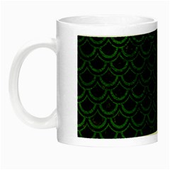 Scales2 Black Marble & Green Leatherscales2 Black Marble & Green Leather Night Luminous Mugs by trendistuff