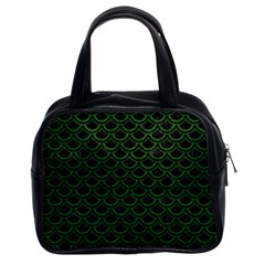 Scales2 Black Marble & Green Leatherscales2 Black Marble & Green Leather Classic Handbags (2 Sides) by trendistuff