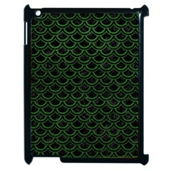 Scales2 Black Marble & Green Leatherscales2 Black Marble & Green Leather Apple Ipad 2 Case (black) by trendistuff