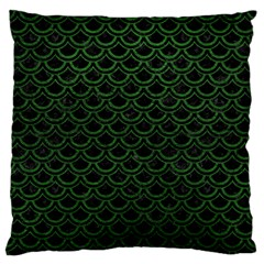 Scales2 Black Marble & Green Leatherscales2 Black Marble & Green Leather Large Flano Cushion Case (two Sides) by trendistuff