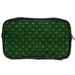 Scales2 Black Marble & Green Leather (r) Toiletries Bags 2 Side by trendistuff