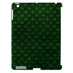 Scales2 Black Marble & Green Leather (r) Apple Ipad 3/4 Hardshell Case (compatible With Smart Cover) by trendistuff