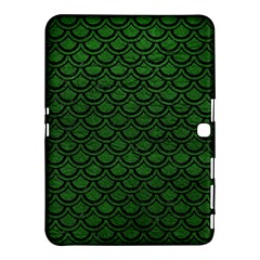 Scales2 Black Marble & Green Leather (r) Samsung Galaxy Tab 4 (10 1 ) Hardshell Case  by trendistuff