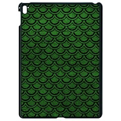 Scales2 Black Marble & Green Leather (r) Apple Ipad Pro 9 7   Black Seamless Case