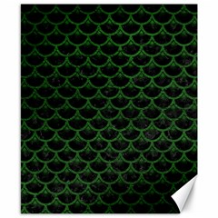 Scales3 Black Marble & Green Leather Canvas 8  X 10  by trendistuff
