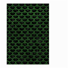 Scales3 Black Marble & Green Leather Small Garden Flag (two Sides) by trendistuff