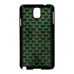 Scales3 Black Marble & Green Leather Samsung Galaxy Note 3 Neo Hardshell Case (black) by trendistuff
