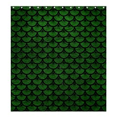 Scales3 Black Marble & Green Leather (r) Shower Curtain 66  X 72  (large)