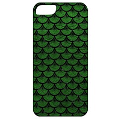 Scales3 Black Marble & Green Leather (r) Apple Iphone 5 Classic Hardshell Case by trendistuff
