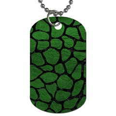 Skin1 Black Marble & Green Leather Dog Tag (one Side) by trendistuff