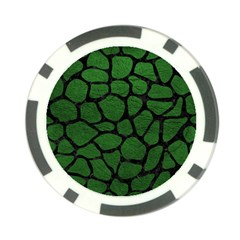 Skin1 Black Marble & Green Leather Poker Chip Card Guard (10 Pack) by trendistuff