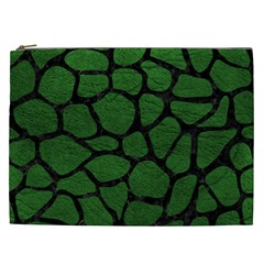 Skin1 Black Marble & Green Leather Cosmetic Bag (xxl)  by trendistuff