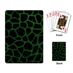 Skin1 Black Marble & Green Leather (r) Playing Card by trendistuff