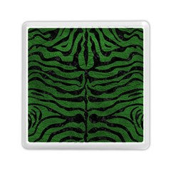 Skin2 Black Marble & Green Leather (r) Memory Card Reader (square)  by trendistuff