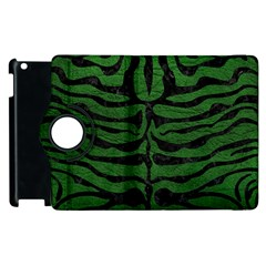 Skin2 Black Marble & Green Leather (r) Apple Ipad 2 Flip 360 Case by trendistuff
