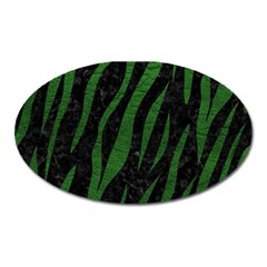 Skin3 Black Marble & Green Leather Oval Magnet by trendistuff