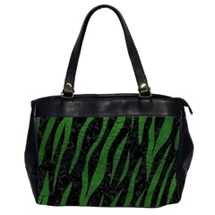 Skin3 Black Marble & Green Leather Office Handbags (2 Sides)  by trendistuff