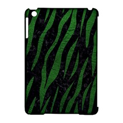 Skin3 Black Marble & Green Leather Apple Ipad Mini Hardshell Case (compatible With Smart Cover) by trendistuff
