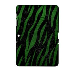 Skin3 Black Marble & Green Leather Samsung Galaxy Tab 2 (10 1 ) P5100 Hardshell Case  by trendistuff