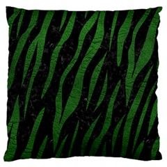 Skin3 Black Marble & Green Leather Standard Flano Cushion Case (one Side) by trendistuff