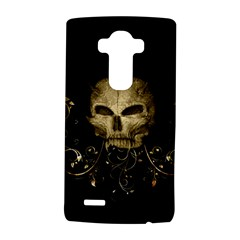 Golden Skull With Crow And Floral Elements Lg G4 Hardshell Case by FantasyWorld7