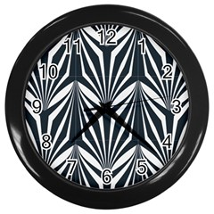 Art Deco, Black,white,graphic Design,vintage,elegant,chic Wall Clocks (black) by 8fugoso