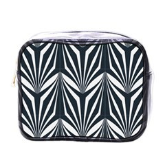 Art Deco, Black,white,graphic Design,vintage,elegant,chic Mini Toiletries Bags by 8fugoso