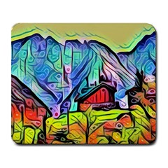Magic Cube Abstract Art Large Mousepads by 8fugoso