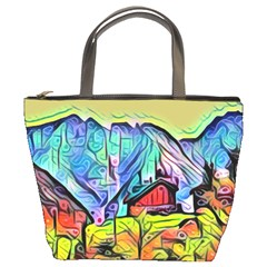 Magic Cube Abstract Art Bucket Bags by 8fugoso