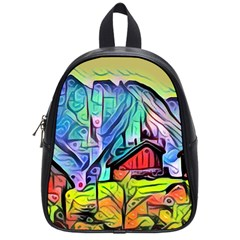 Magic Cube Abstract Art School Bag (small) by 8fugoso