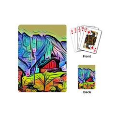 Magic Cube Abstract Art Playing Cards (mini)  by 8fugoso