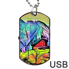 Magic Cube Abstract Art Dog Tag Usb Flash (two Sides) by 8fugoso