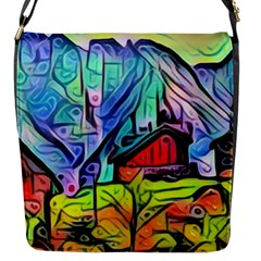 Magic Cube Abstract Art Flap Messenger Bag (s) by 8fugoso