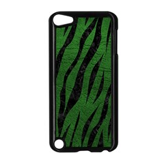 Skin3 Black Marble & Green Leather (r) Apple Ipod Touch 5 Case (black) by trendistuff